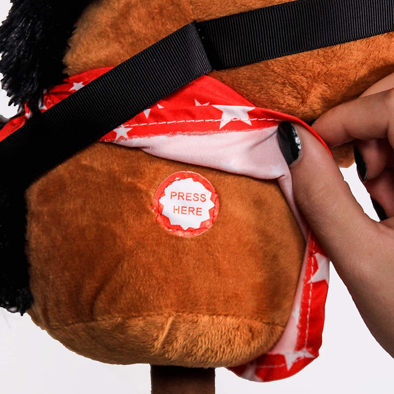 Amazon.com: PonyLand - Palo de caballo marrón con sonido ...