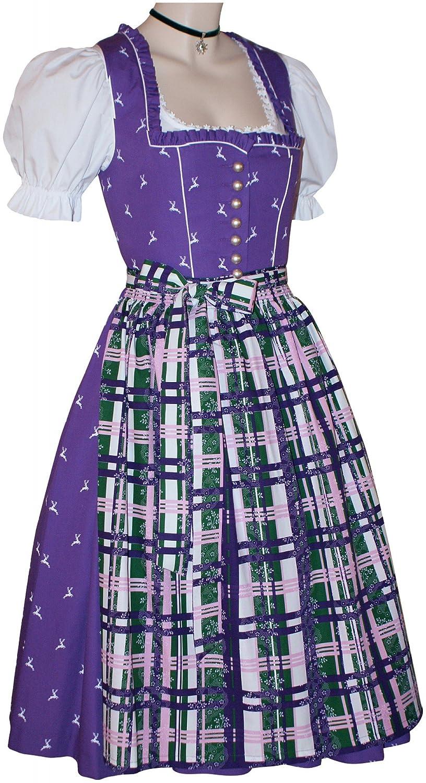 Trachtenkleid Dirndlkleid Baumwolldirndl Kleid lila Tracht ähnl. Ausseer-Dirndl