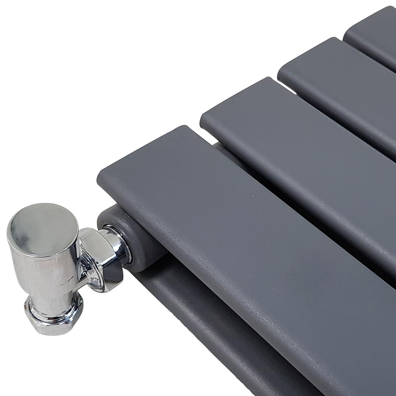 Anthracite Radiators Horizontal Double Panel 550mm x 1000mm Novus Designer Radiator