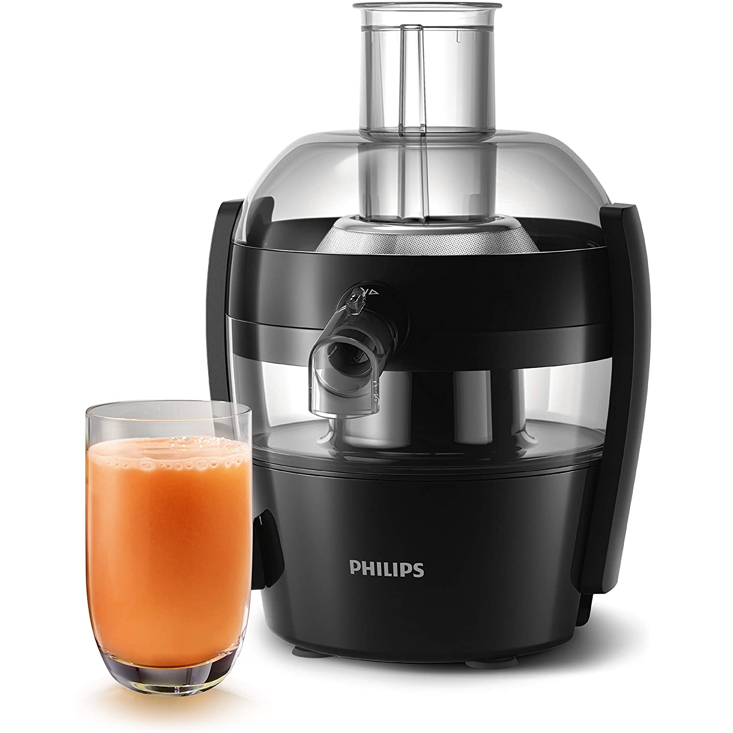 A black color philips juicer