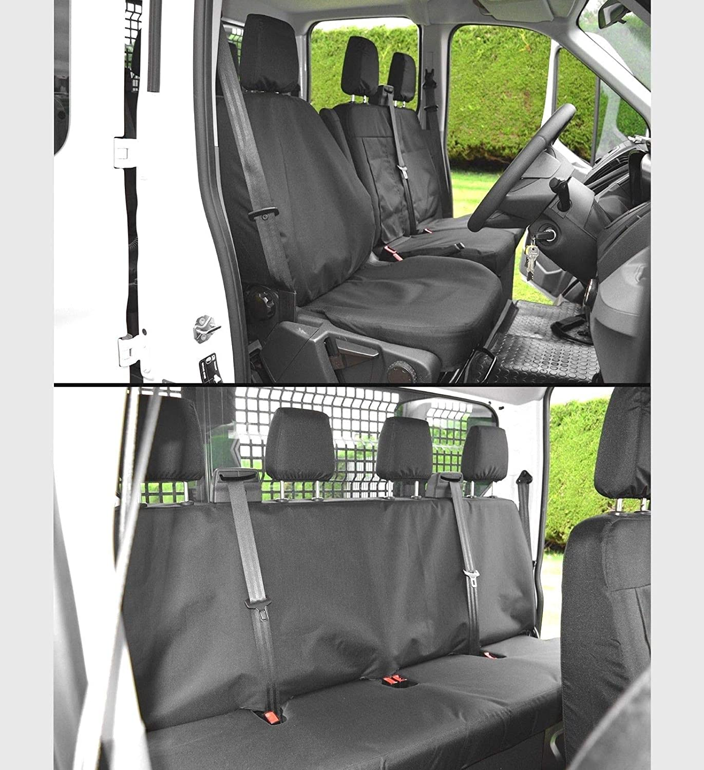 Heavy Duty Tailored Seat Covers To Fit a Ford Transit Tipper Crew Cab 7 Seater CAR SEAT COVERS DIRECT