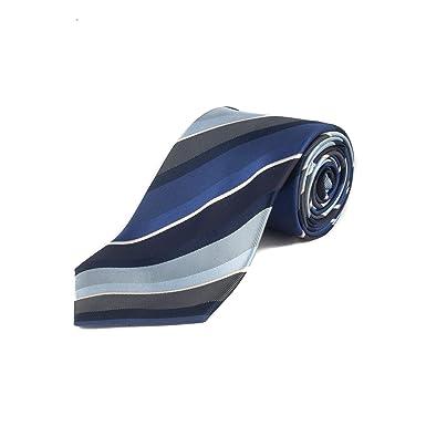 9611b1e7 Ermenegildo Zegna Men's Silk Striped Tie Blue at Amazon ...