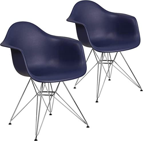Flash Furniture 2 Pk. Alonza Series Navy Plastic Chair