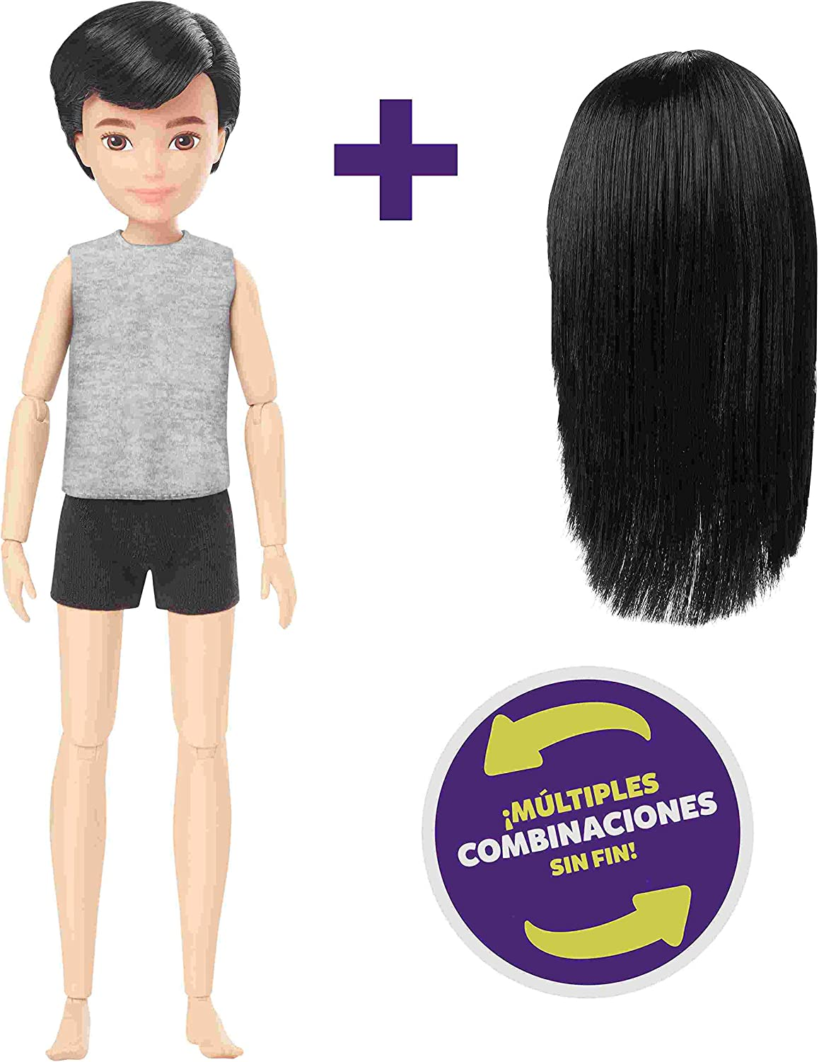 Amazon.es: Creatable World - Pack de personajes, cabello moreno ...