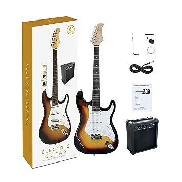 Bronceador para guitarra eléctrica de tamaño completo CB SKY ST de 39 pulgadas con amplificador de