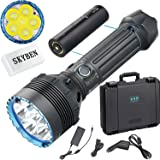 Olight X9R Marauder Cree XHP70.2 LED 25,000 lumens Ultra Bright Tactical Rechargeable Flashlight for Camping,Hunting,Searching, with Battery Pack and SKYBEN Battery Accessory (X9R)