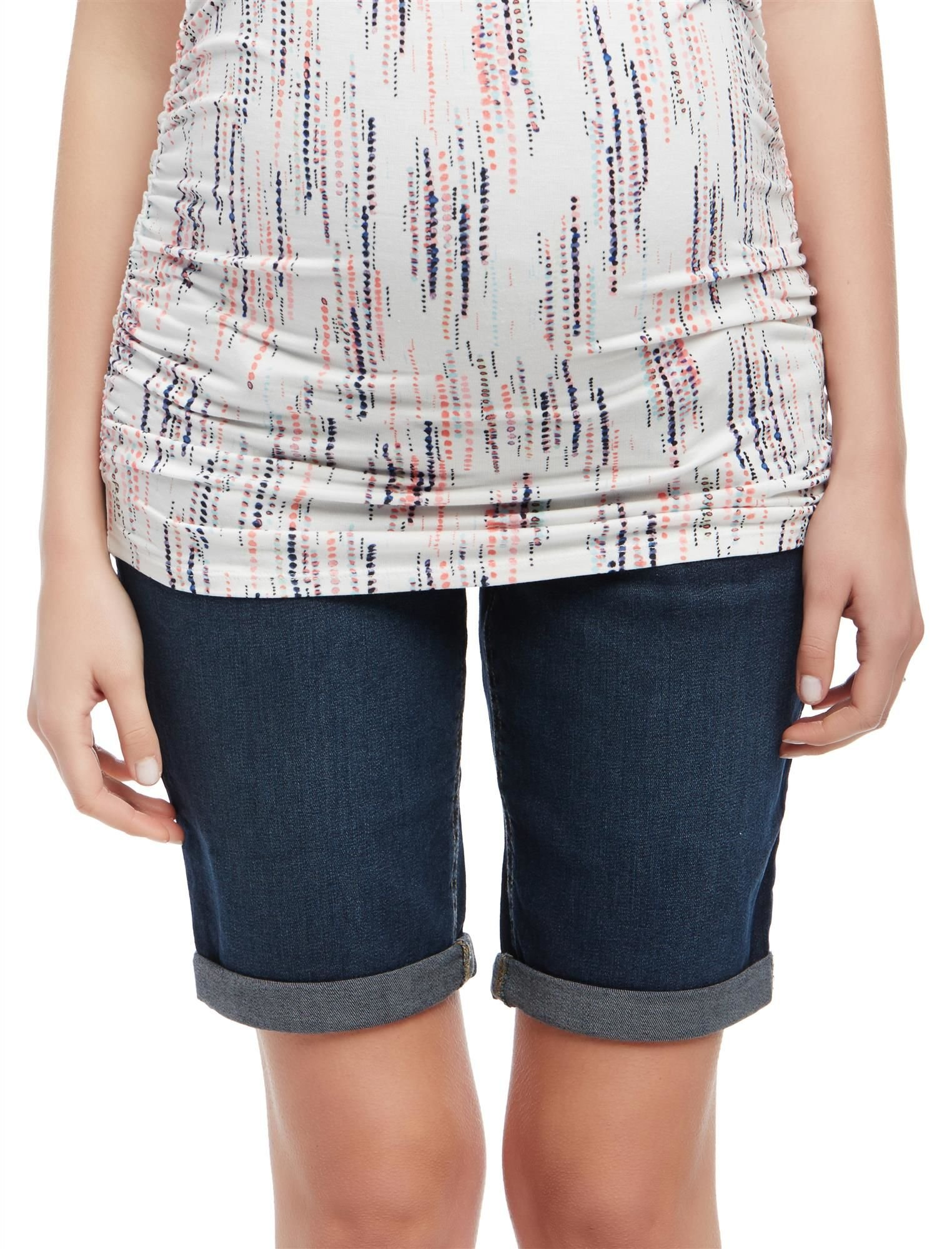 Motherhood Secret Fit Belly Cuffed Maternity Bermuda Shorts