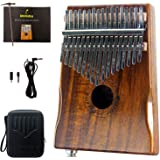 Moozica 17-Key EQ Kalimba, Electric Finger Thumb Piano Built-in Pickup With 6.35mm Audio Interface and Professional…