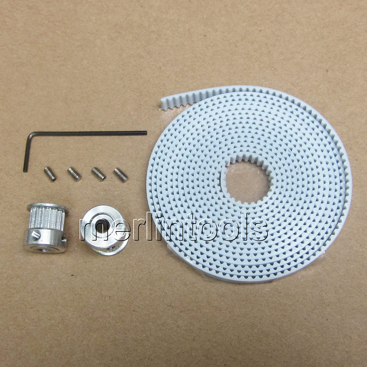 Reprap 3D Printer T2.5 Timing Belts and Pulleys 8mm Shaft with 16 Teeth