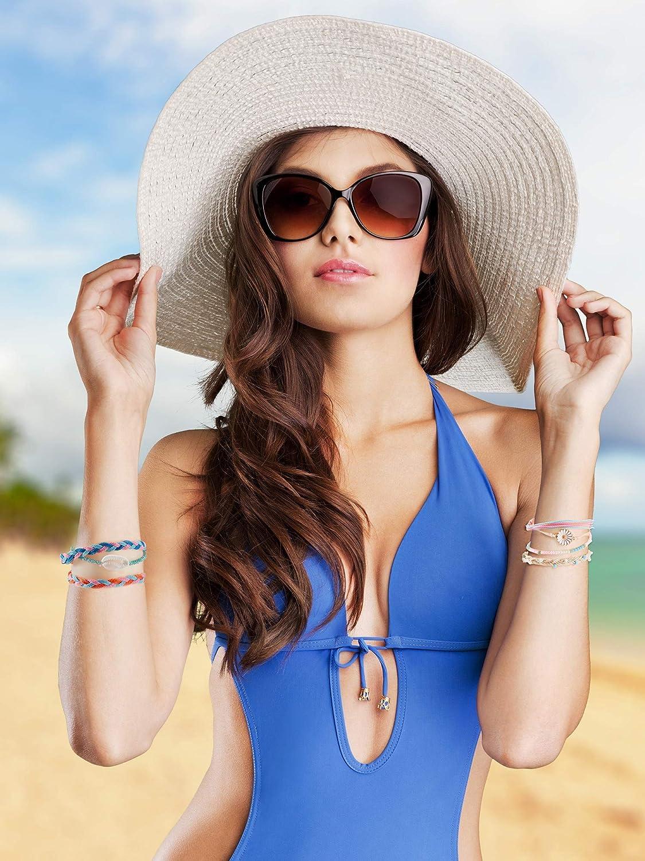 29 Pieces Adjustable Surfer Wave Bracelet Summer Ocean Strand Bracelet Waterproof Handmade Friendship Bracelet Sunflower Shell Bracelets Anklets Jewelry for Women Teen Girls: Clothing