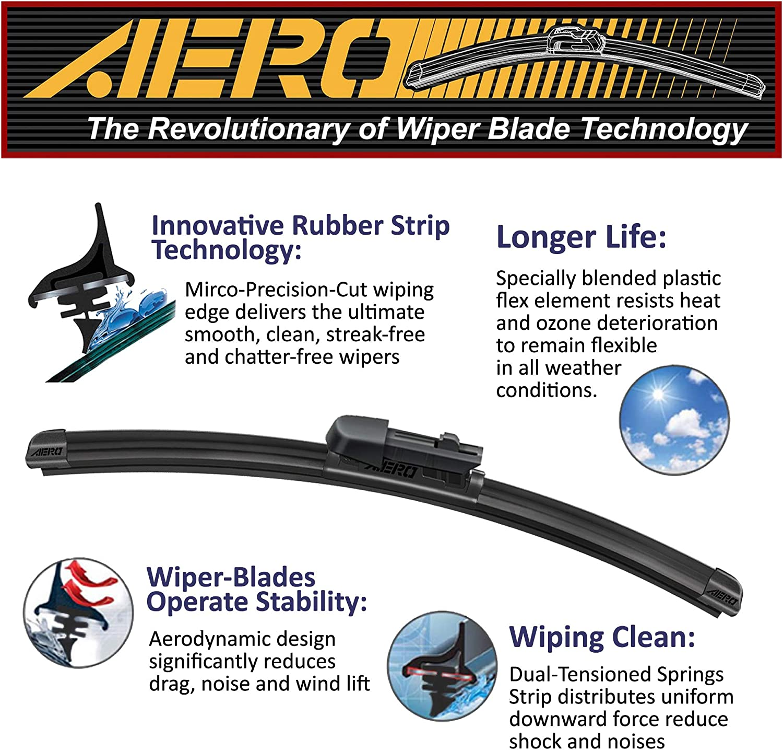 AERO Chevrolet Chevy MALIBU 1997-2008 Premium All Season Wiper Blades Set of 2