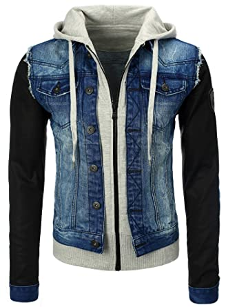 Jeansjacke mit stoffarmeln