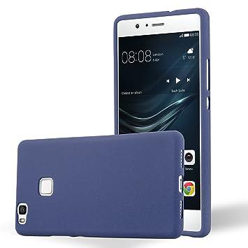 Cadorabo Funda para Huawei P9 Lite en Frost Azul Oscuro - Cubierta Proteccíon de Silicona TPU Delgada e Flexible con Antichoque - Gel Case Cover ...