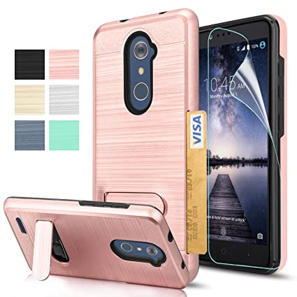 new styles b83c3 f2de6 ZTE ZMAX Pro Z981 Case, ZTE Carry Case,ZTE Imperial Max Z963U / Max Duo LTE  Case with HD Screen Protector,AnoKe[Card Slots Wallet Holder]Kickstand ...