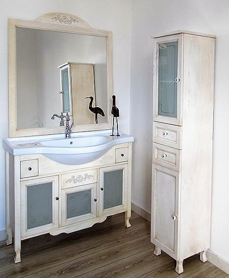 Le Chic Mueble de baño con Lavabo de cerámica 105 cm Marfil decape + Columna