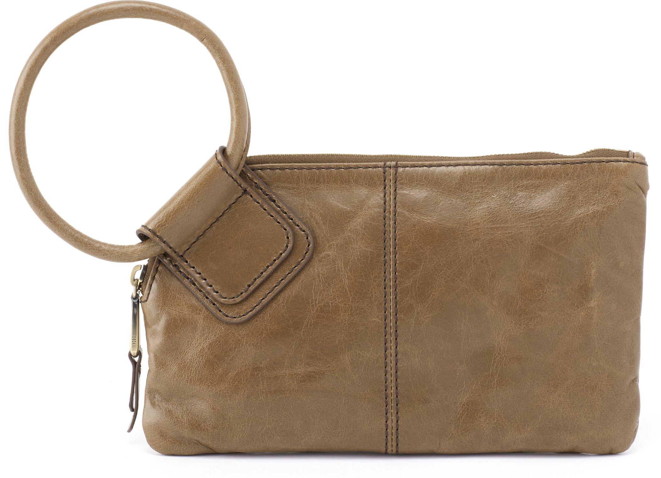 Hobo Women's Leather Sable Wristlet Clutch Wallet (Mink)