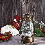 TINGOR Lighted Christmas Snowman Water Glittering