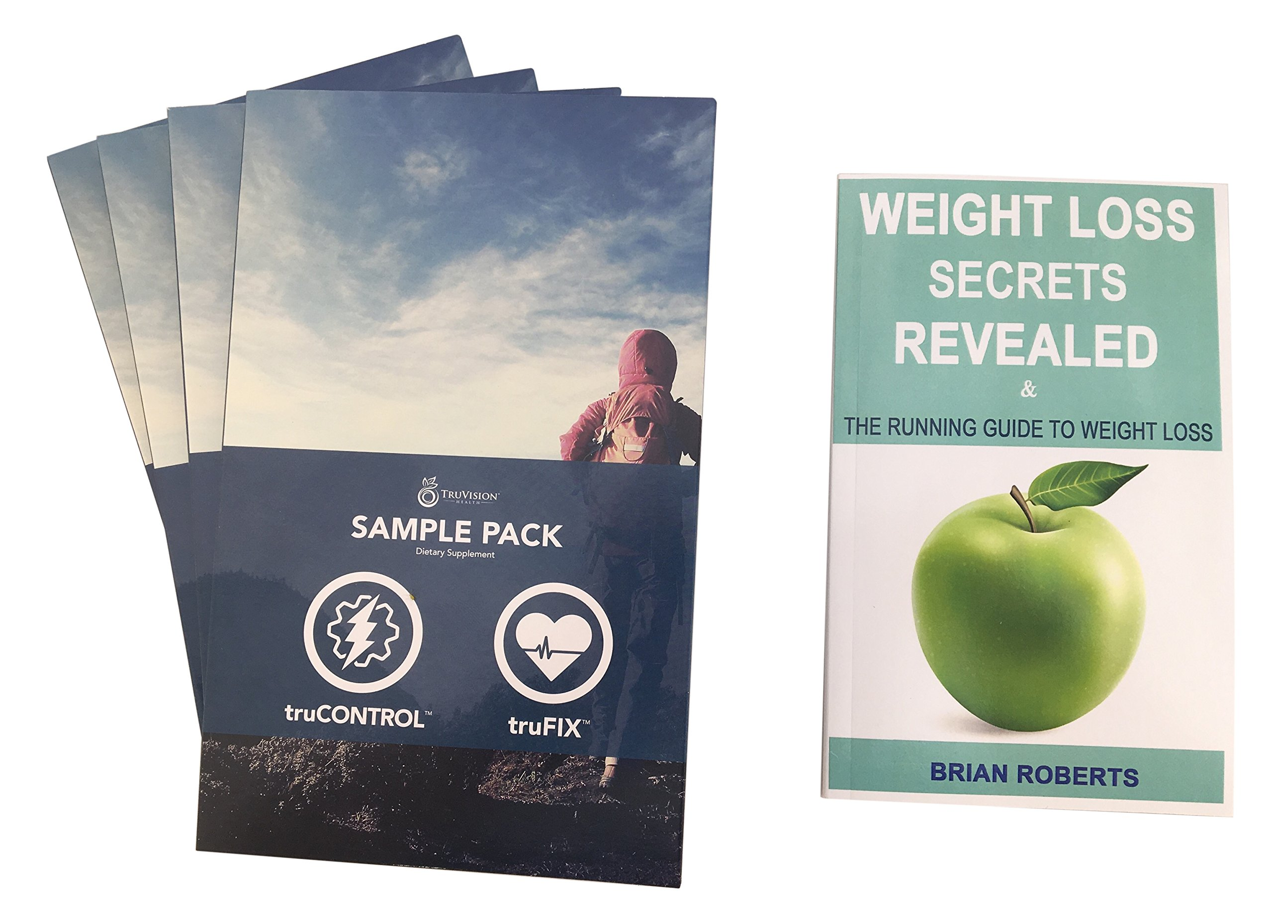 Truvision Health - TruFix and TruCONTROL 30 Day Supply (1 month, 120 capsules) with Companion Book: Weight Loss Secrets Revealed Bundle