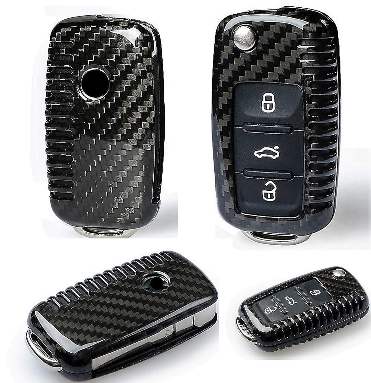 Max Auto Carbon Funda de Carbono para Llave de VW Golf Polo Passat ...