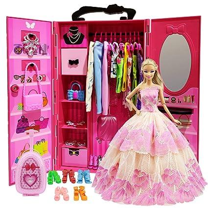 Guardaroba Di Barbie.Zita Element 51 Pz Mobili Guardaroba Per Bambole Barbie 1