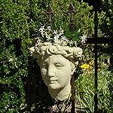 Designer Stone Lady's Head Wall Planter