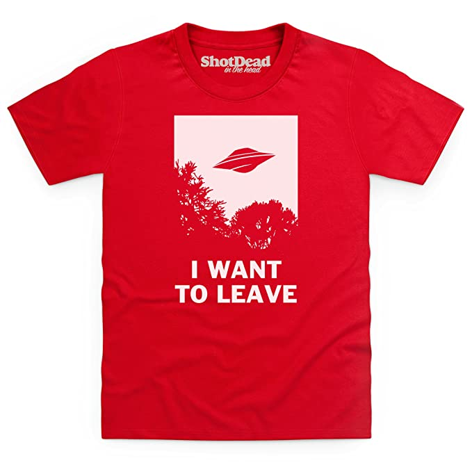 I Want To Leave Camiseta infantil, Para nios, Rojo, XS