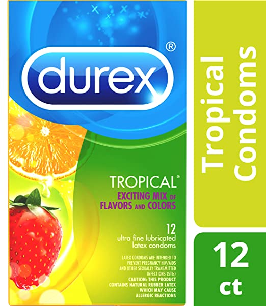 Durex Tropical Flavors Flavored Premium Condoms
