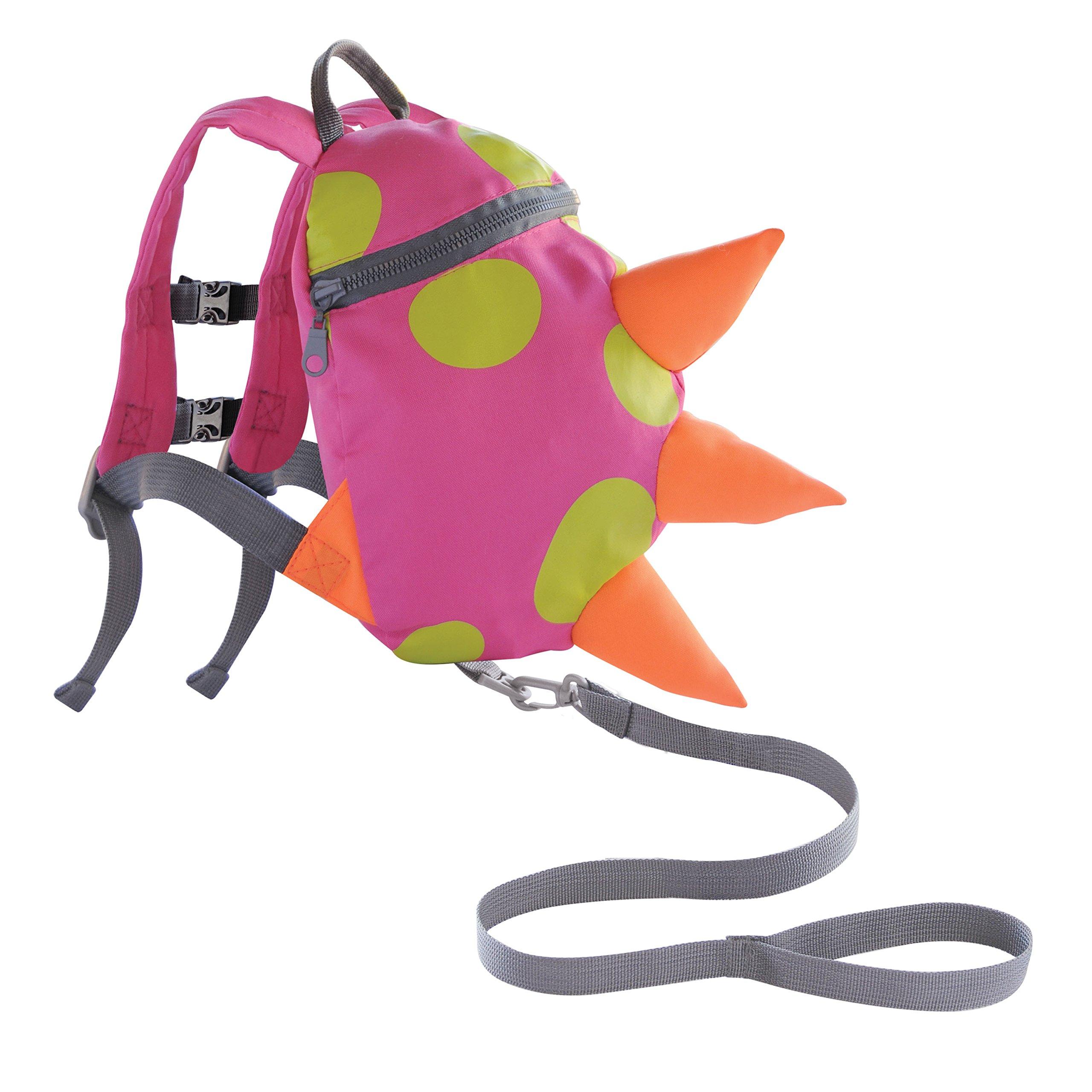 Toddler Harness Backpack Dino- Pink, Green, Orange