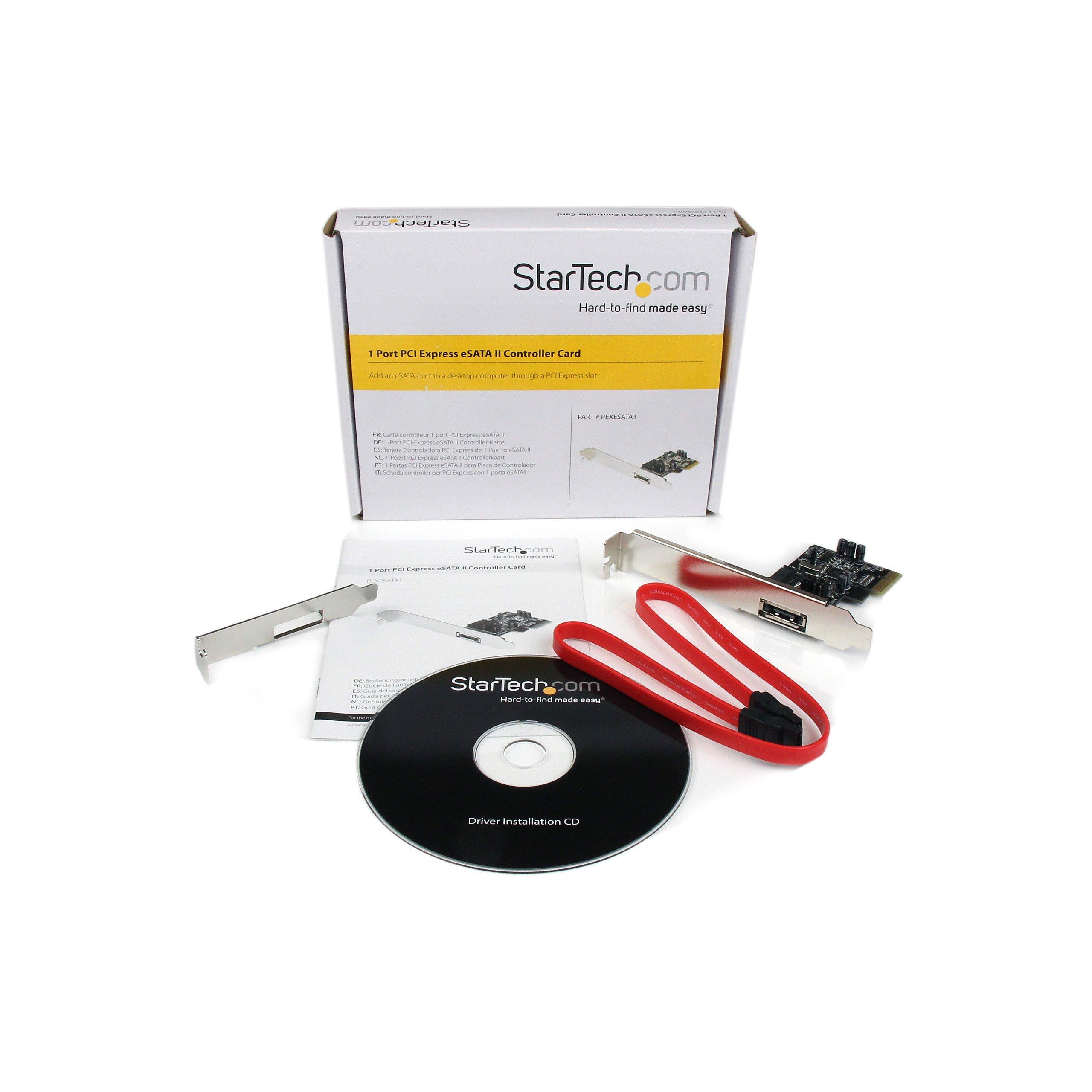 StarTech.com 1 Port PCI Express eSATA II Controller Card PEXESATA1 by StarTech (Image #4)