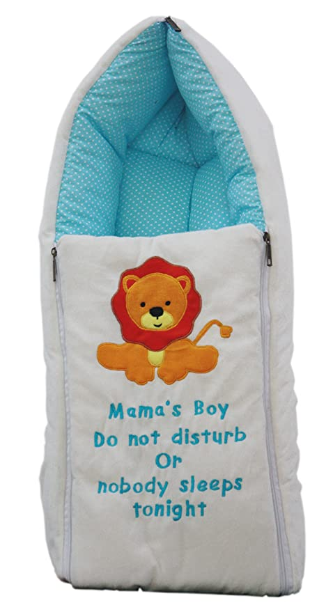 sale retailer 96106 b4367 Amardeep and Co Baby Cotton Sleeping Cum Carry Bag (0-3 Months, Blue And  White)
