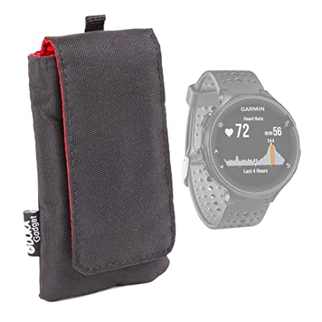 DURAGADGET Funda Acolchada Negra/Roja para Smartwatch Garmin ...