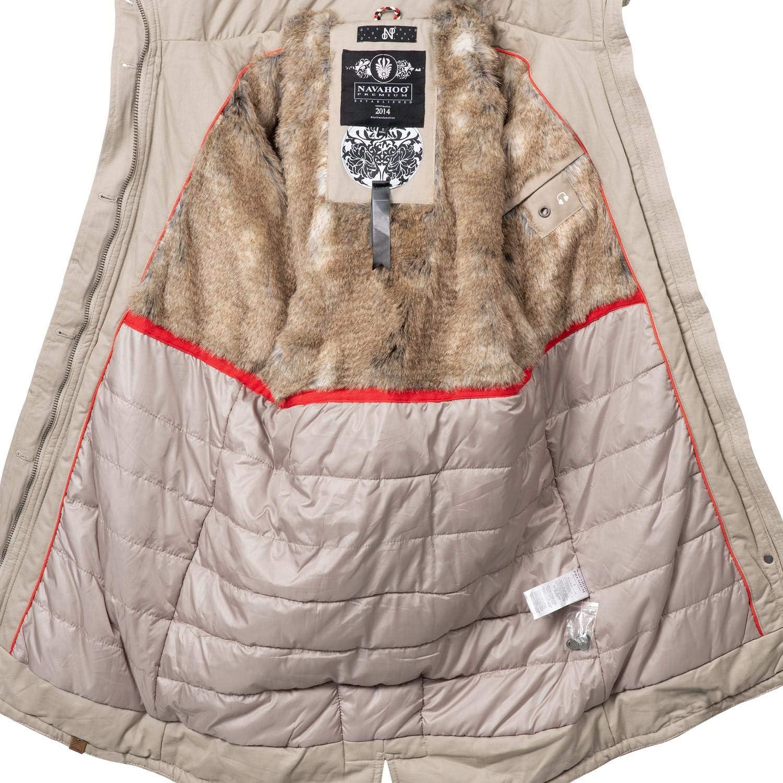 Navahoo Damen Wintermantel Winterparka Kin-Joo 6 Farben XS-XXL Beige