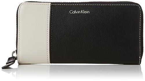 Calvin Klein - Urban Large Ziparound, Carteras Mujer, Negro (Black), 3x10x20