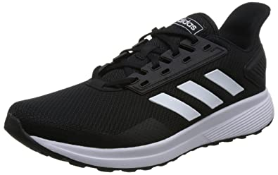 e98a21d475e adidas Men's Duramo 9 Running Shoe, Black/White, 7.5 Wide US