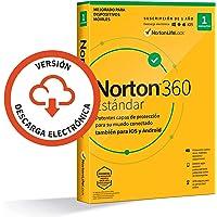Norton 360 Estándar 2021 - 1 Dispositivo, 1 Año, para PC/Mac, Código de activación enviado por email