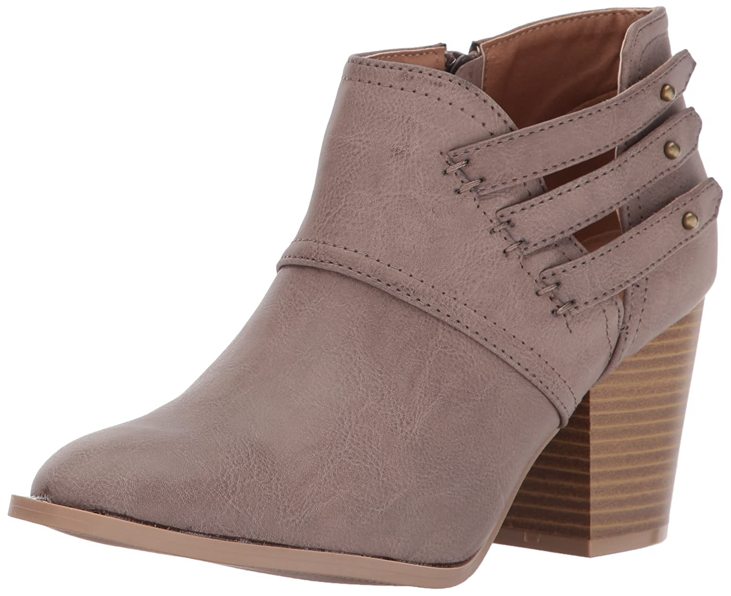 Qupid Women's Prenton-10 Ankle Bootie B06ZYL86MV 5.5 B(M) US|Taupe Burnish Polyurethane