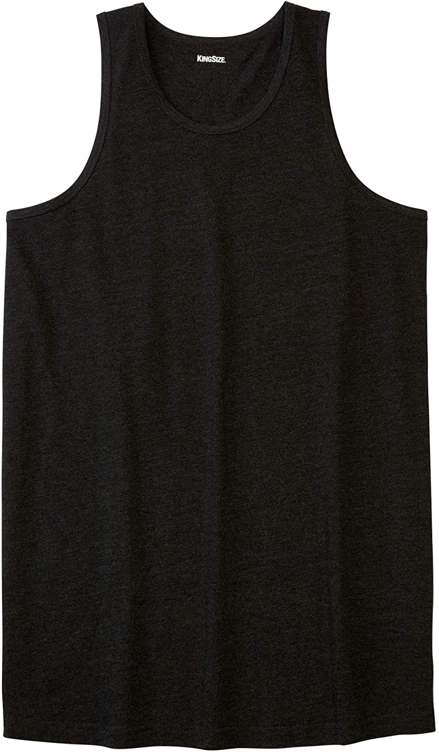 Big KingSize Mens Big /& Tall Longer-Length Shrink-Less Lightweight Tank 5XL Heather Charcoal