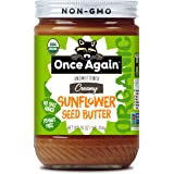 Once Again Organic Sunflower Butter - Peanut Free, Salt Free, Unsweetened - 16 oz Jar