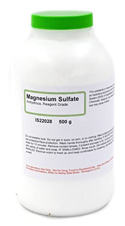 Reagent Grade Anhydrous Magnesium Sulfate, 500g - The Curated Chemical Collection