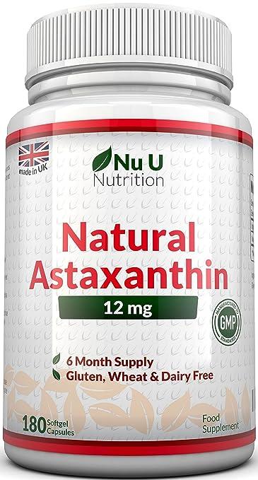 159 opinioni per Astaxantina 12 mg- 180 Capsule Softgels (Scorta Per 6 Mesi)- La Più Alta Dose Di
