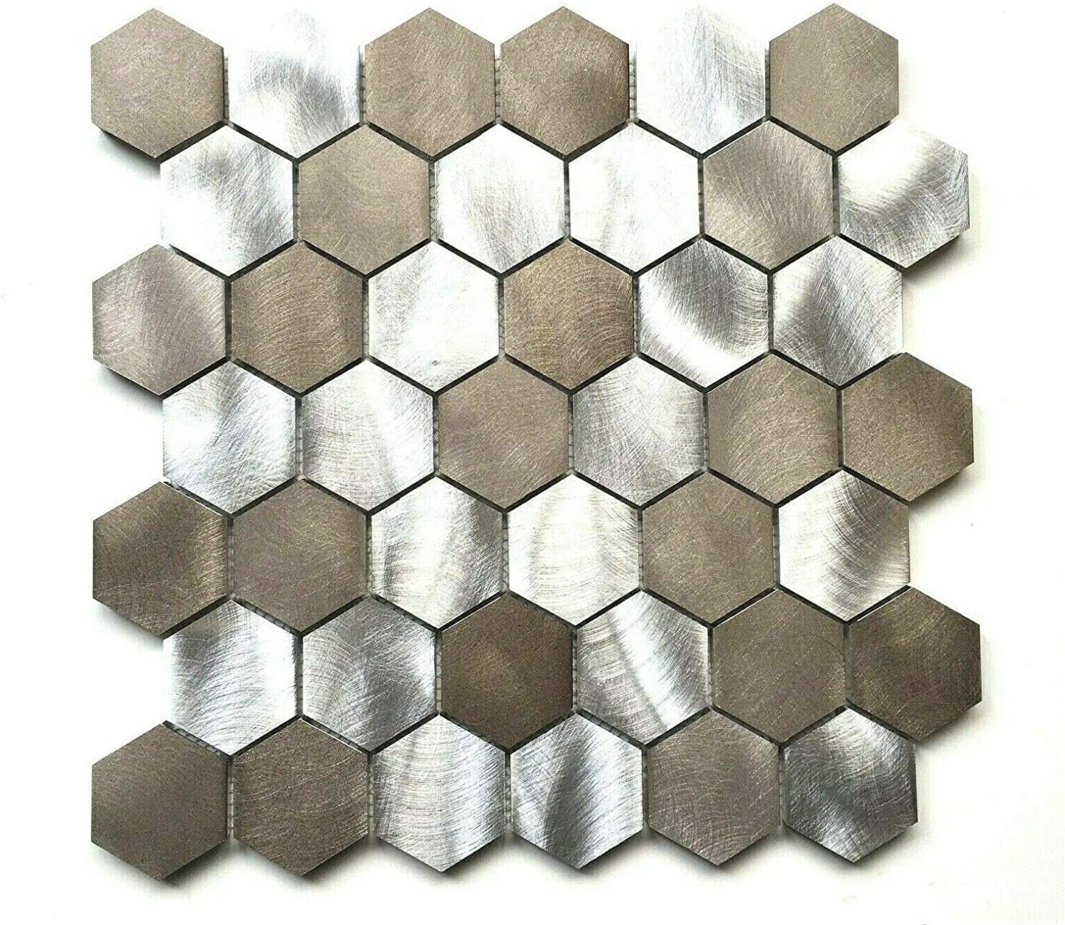 - Amazon.com: Squarefeet Depot Brushed Aluminum Multi-Color 2 Inch