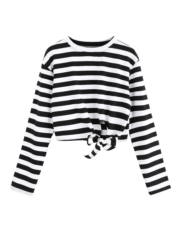 SweatyRocks SHIRT レディース B0771JVNHY XL|Long Sleeve_striped #2 Long Sleeve_striped #2 XL