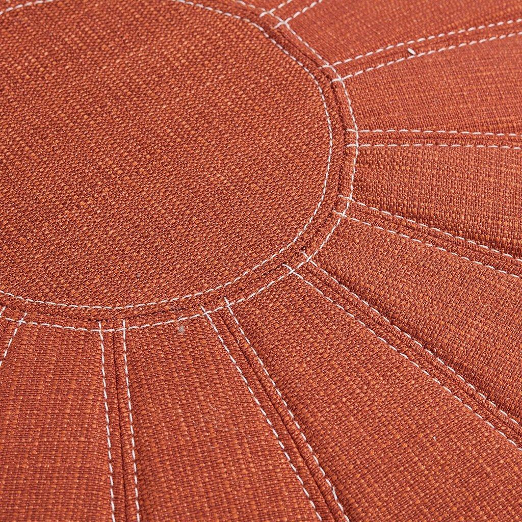 Madison Park Kelsey Round Pouf Ottoman Orange See below by Madison Park (Image #2)