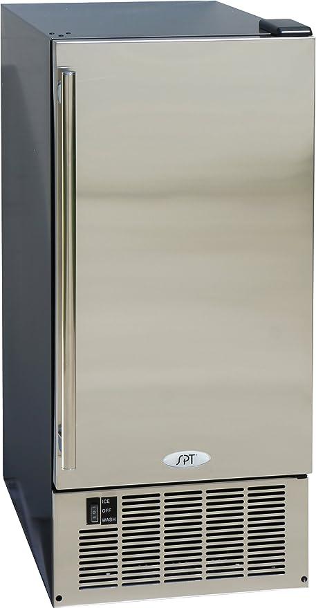 SPT IM-600US máquina de hielo de acero inoxidable, 50 libras ...