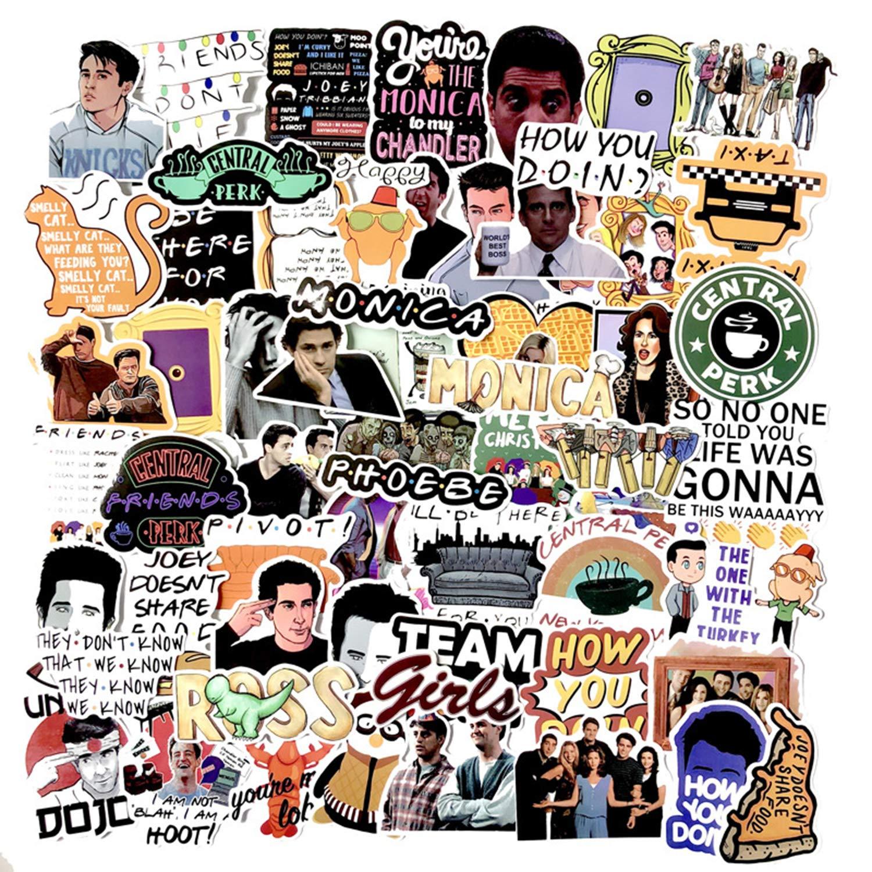 Stickers Calcos 66 un. Friends TV Origen U.S.A. (7QKTW7C2)