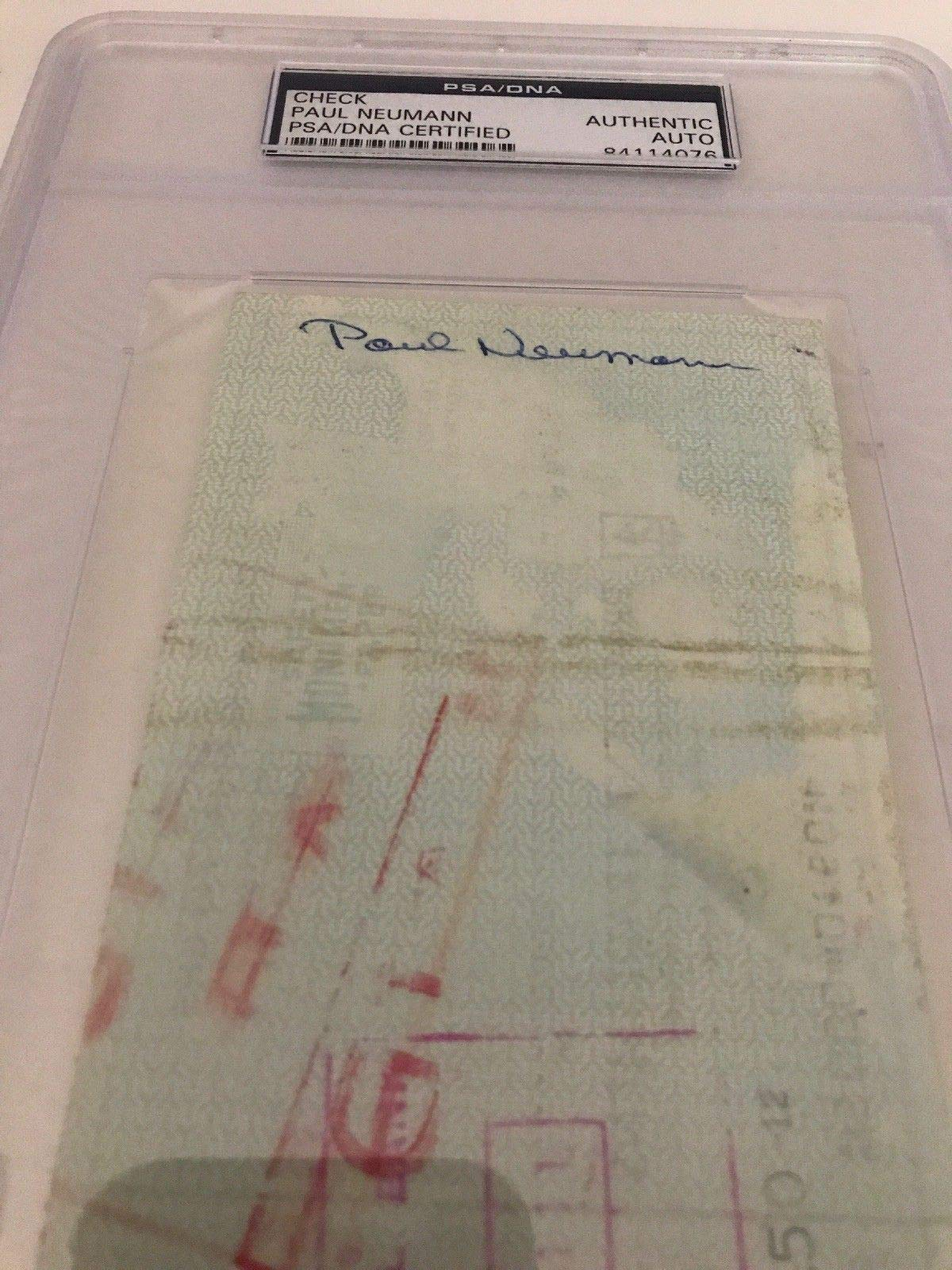 Paul Neumann Autographed Signed 1963 Philadelphia 76Ers Payroll Check PSA/DNA Authentic Encapsulated