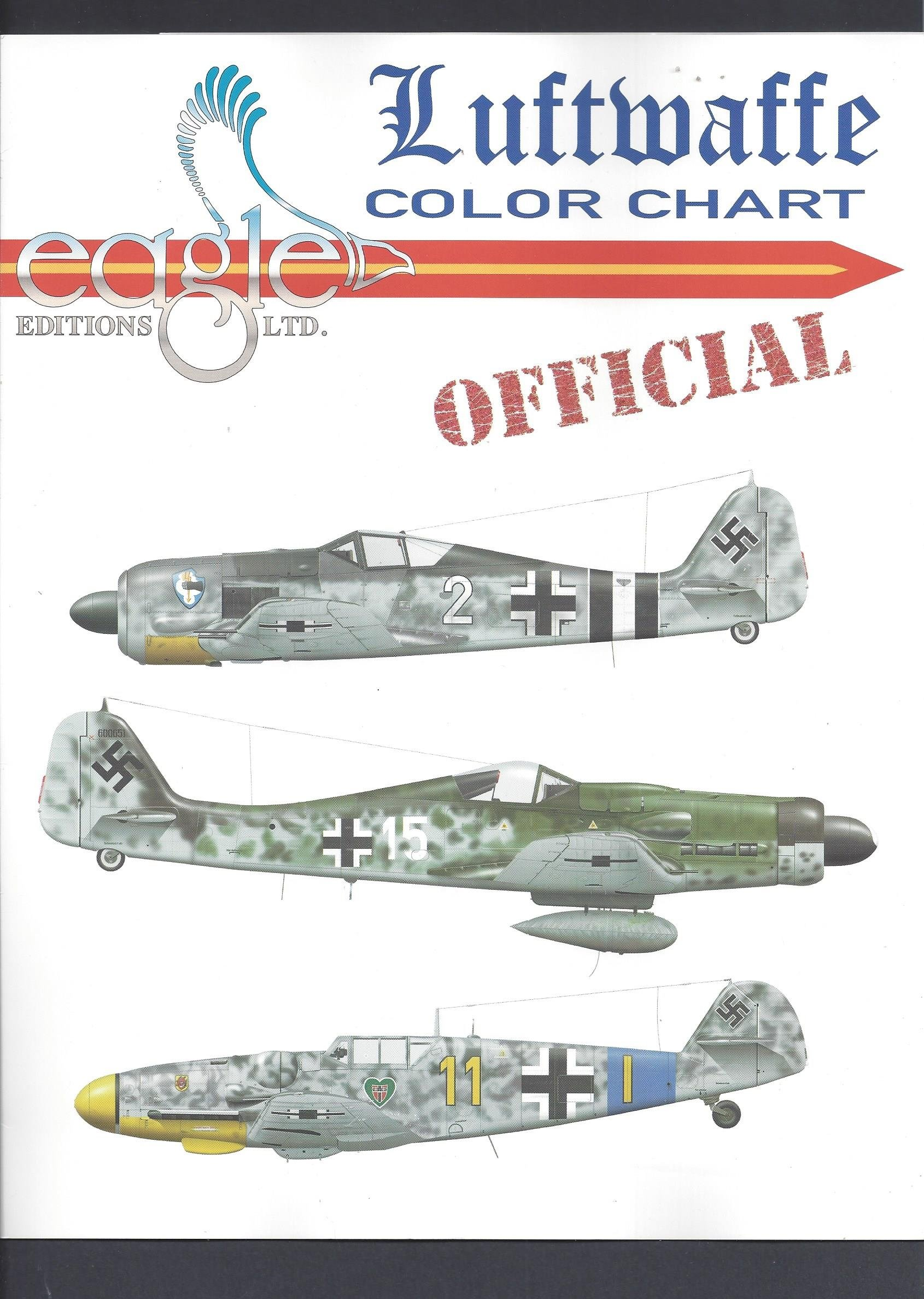 Luftwaffe color chart authentic paint chips amazon books nvjuhfo Choice Image