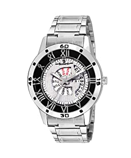 Geonardo Analogue White Dial Day and Date Men's Watch