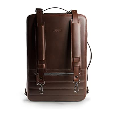 24Hr Switch Leather Bag - Free Minimalist Leather Wallet Included - Italian Leather 3in1 Laptop Camera Briefcase Backpack Messenger Bag (Vintage)