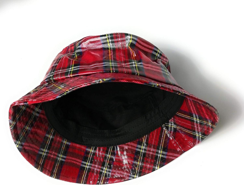 KGM Accessories Chapeau Tartan /écossais imperm/éable pour Femme Taille Unique Red Stuart